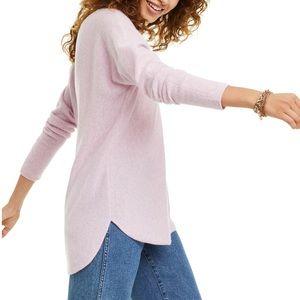 CHARTER CLUB Puré Cashmere Long-Sleeve Shirttail S